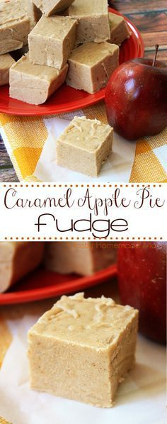 Caramel Apple Pie Fudge - This stovetop Caramel Apple Pie Fudge is the perfect treat to welcome fall! Apple pie filling, crushed gingersnap cookies, and white chocolate chips in a caramel sauce – this dessert makes a great gift, too! Fudge Recipes, Candy Recipes, Apple Recipes, Sweet Recipes, Dessert Recipes, Baking Recipes, Holiday Recipes, Chocolate Chips, White Chocolate