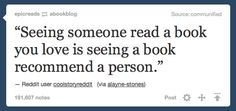 Books recommend people to us