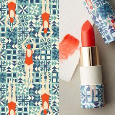 Designed exclusively for Anthropologie by Lou Taylor. #anthropologie #pattern #lipstick