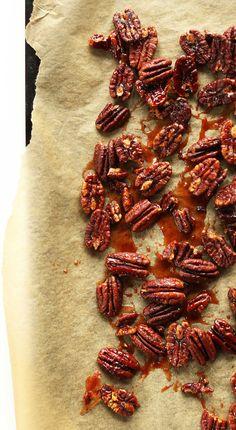 Vegan Maple Geröstete Pekannüsse!  #vegan #glutenfree