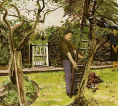 View The Gardener By Carel Weight; oil on board; Access more artwork lots and estimated & realized auction prices on MutualArt. Tate Gallery, Garden Park, Royal College Of Art, Rome Travel, Victoria And Albert, Urban Life, Source Of Inspiration, Figure Painting, Art School