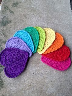 Valentine Heart Coaster By Andee Graves - Free Crochet Pattern - (ravelry)