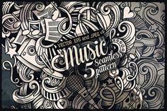 ♬ 5 Music Doodles Patterns by balabolka on Creative Market