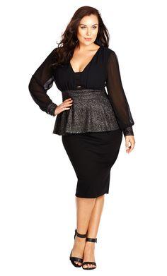 6613f8b6ccc City Chic Sparkle Peplum Top - Women s Plus Size Fashion City Chic - City  Chic Your