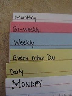 Cleaning Schedule. Laminate to use over and over so you can check things off as you go. #homecleaningschedule