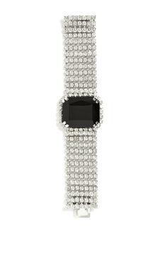 Carole Tanenbaum 1950'S Diamante Necklace With Black Cabochon And Matching Bracelet by Carole Tanenbaum for Preorder on Moda Operandi