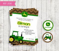 Tractor in the Dirt John Deere Birthday por SocialePrintables