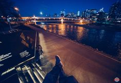 I was out taking pictures with a friend of mine on Saturday night and I took a minute to grab a seat and enjoy the view. The moon was bright and the city was perfect. I love being out in the city a…