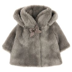 Silken and warm synthetic fur jacket. Nylon lining with Tartine et Chocolat logo print. Removable hood with buttons under the collar. Snap buttons and grosgrain braids on the front. Dry cleaning only. - 170,00 €