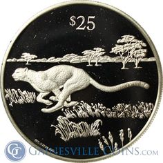 1993 British Virgin Islands $25 Proof Silver Endangered Wildlife http://www.gainesvillecoins.com/