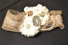 Wedding Garter Set  Rustic Burlap Flower Key by MySouthernAccents, $45.00