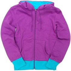 """Blue Banana Purple/Turquoise Zip Up Hoodie - from Rose Tyler's """"The End of Time"""" look"""