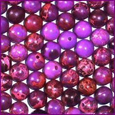 20 6mm Round Purple Magnesite Gemstone Beads Pink  $3.25  at CDVDMart