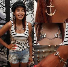 Cailap by Bloggers / Are you feeling fashionable? / Nadjan suunnittelemat seilorihenkiset korut käytössä