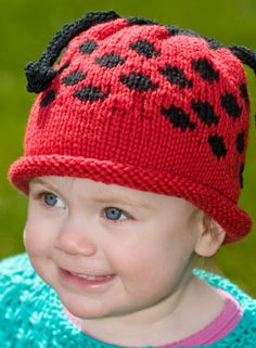 123c2f52274 Free Knitting Patterns ladybug Baby Hats