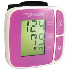 Bluetooth(R) SMART(TM) Wrist Blood Pressure Monitor (Pink) - PYLE - PHBPBW40PN