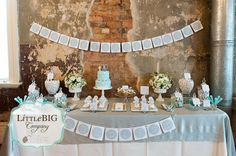 Elegant Elephant Themed Combine Baptism and 1st Birthday  by The Little big Company