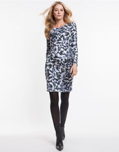 Graphic Maternity Dress Front