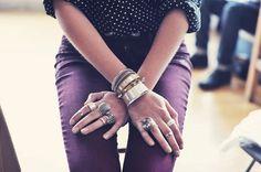 burgundy pants//polka dots via Ascot Friday blog