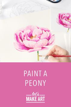 Beginner artists and advanced painters alike, the Watercolor Art Diy, Watercolor Paintings For Beginners, Peony Painting, Watercolor Projects, Watercolor Sunflower, Watercolour Tutorials, Watercolor Illustration, Watercolor Flowers, Watercolor Portraits