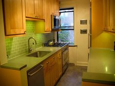Small Galley Kitchens | Brooklyn Galley Kitchen Finished (not white!) - Kitchens Forum ...