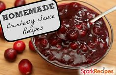 Skipped the canned relish this year and try one of these crave-worthy cranberry sauce recipes instead! | via @SparkPeople #food #Thanksgiving #holiday #jelly #holiday