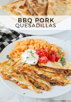 BBQ Pulled Pork Quesadillas Are A Quick And Easy Meal Your Whole Family Is Going To Love! Quesadillas, Pulled Pork Recipes, Recipes With Pulled Pork Leftovers, Leftover Pulled Pork, Leftover Pork Loin Recipes, Shredded Pork Recipes, Roast Recipes, Pulled Pork Wrap, Pulled Pork Tacos