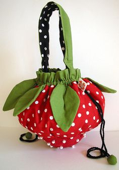 strawberry bag | strawberry bag , originally uploaded by bloodybunny .
