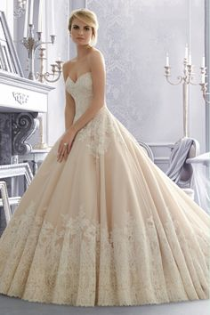 2014 Wedding Dresses Sweetheart A Line With Applique
