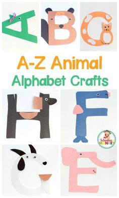 Transform letter cut-outs into adorable animal alphabet crafts! These preschool alphabet letter crafts are the perfect addition to letter of the week activities! Make a craft alphabet for toddlers and have a blast with these alphabet crafts for kids. Alphabet Letter Crafts, Abc Crafts, Animal Alphabet, Preschool Activities, Kids Crafts, Animal Letters, Teach Preschool, Letter Tracing, Craft Kids