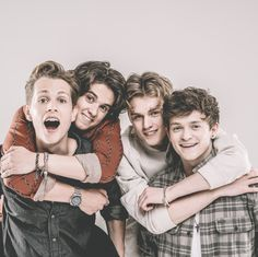 Love The Vamps bromance! The Vamps Brad Simpson, James McVey, Connor Ball and Tristan Evans.