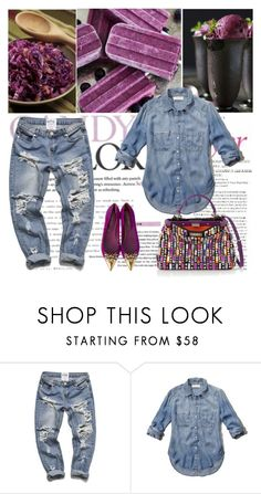 """""""Denim all over"""" by shaneeeee ❤ liked on Polyvore featuring Ødd., Abercrombie & Fitch, Fendi, women's clothing, women, female, woman, misses, juniors and denim"""