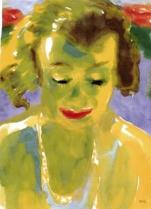 Portrait of a Woman (Yellow and Green) - Emil Nolde - The Athenaeum