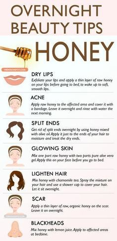 - Healthy Tips & Hacks - Overnight Beauty Tips with Honey - 14 Beneficial Beauty Tips for Face and Body C. Overnight Beauty Tips with Honey - 14 Beneficial Beauty Tips for Face and Body Care to Beautify Yourself from Head to Toe Beauty Tips With Honey, Beauty Tips For Face, Health And Beauty Tips, Beauty Secrets, Health Tips, Face Tips, Beauty Tips And Tricks, Beauty Guide, Beauty Hacks Honey