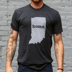 The Indiana Home T-shirt is a stylish way to show off your state pride, while also helping raise money for multiple sclerosis research.The Home T is 100% made in the USA, and we use a high-quality unisex t-shirt that is insanely soft. In fact, it will be one of the softest, most comfortable shirts you