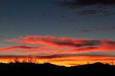 Sunset in Green Valley, AZ.