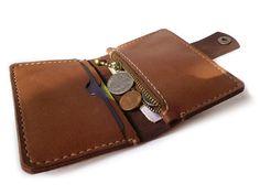 Wallet  Men's Women's Leather Wallet  Hand by LeatherPurses