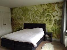 behangfabriek designbehang op maat lace green klant