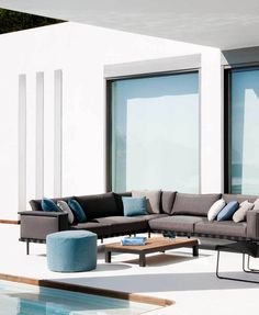 Tribù | Sofa | Grey | Blue | Couchions | Outdoor