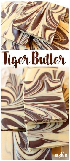 Tiger Butter Fudge - a simple but indulgent fudge recipe that requires only 3 in. Tiger Butter Fudge - a simple but indulgent fudge recipe that requires only 3 ingredients and 5 minutes to make! Butter With A Side of Bread Easy Desserts, Delicious Desserts, Dessert Recipes, Yummy Food, Cake Recipes, Recipes Dinner, Chocolate Flavors, Chocolate Peanut Butter, Chocolate Chips