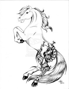 horse tattoo ideas | Mechanized Horse Tattoo by ~briescha on deviantART
