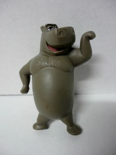 "Disney Madagascar Talking Moto Hippo 3 5"" Figure Cake Topper Toy McDonalds 2008 | eBay"