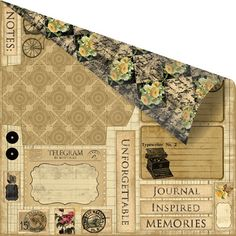 Prima - Romance Novel Collection - 12 x 12 Double Sided Paper - Messenger at Scrapbook.com $0.89