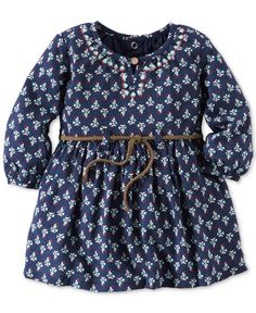 Carter's Baby Girls' Belted Floral-Print Dress - Baby Girl (0-24 months) - Kids & Baby - Macy's