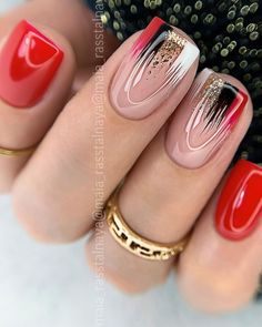 Fabulous Nails, Gorgeous Nails, Pretty Nails, Elegant Nails, Stylish Nails, Best Acrylic Nails, Acrylic Nail Designs, Red Nails, Glitter Nails