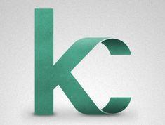 """KC"" monogramme / by Ryan Hamrick Inspiration Typographie, Typography Inspiration, Graphic Design Inspiration, Typography Letters, Typography Logo, Graphic Design Typography, Logo Branding, Web Design, Love Design"