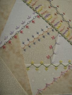 Hello and thank you for visiting me! Today I would like to share with you the progress I have made learning how to construct a crazy quilt b...