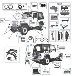 YJ Wrangler 1987-1995 Replacement Body Parts