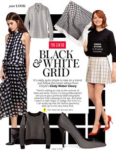 People Stylewatch Mag/ Black and Whire