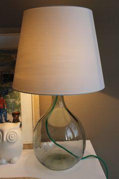 Leuchte mit Glasfuß selber machen